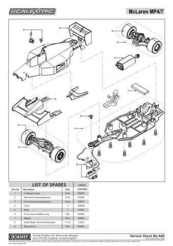 Scalextrix No.449 Mclaren MP4-7 Service Sheets by download Mauritron #206626