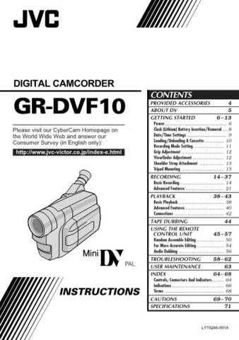 Yamaha IB GRDVF10 Operating Guide by download Mauritron #248212