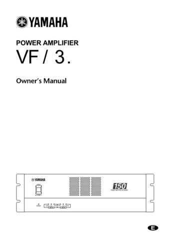 Yamaha XH150E Operating Guide by download Mauritron #205572