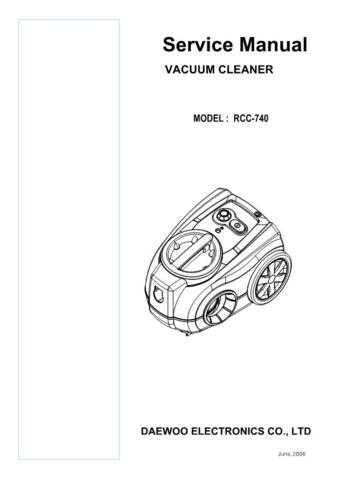 Daewoo RCC-740 Manual by download Mauritron #226636