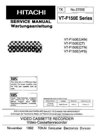 Hitachi VT-392A Service Manual by download Mauritron #265238