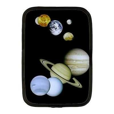Planets Outer Space Montage Neoprene 10 Inch Netbook Case