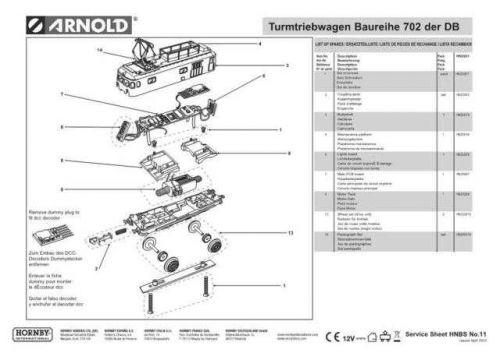 Arnold No.011 Turmtriebwagen Baureihe 702 der DB HN2091 Views and Information b