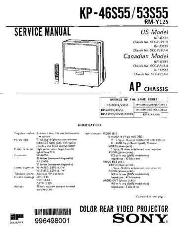 Sony KP-53S25 Manual by download Mauritron #229365