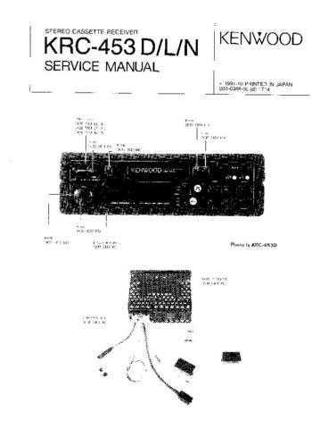 KENWOOD KRC-408 488 Technical Information by download #118725