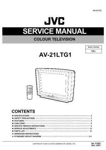 JVC AV-21D71-VT Service Manual Schematic Circuit. by download Mauritron #269541