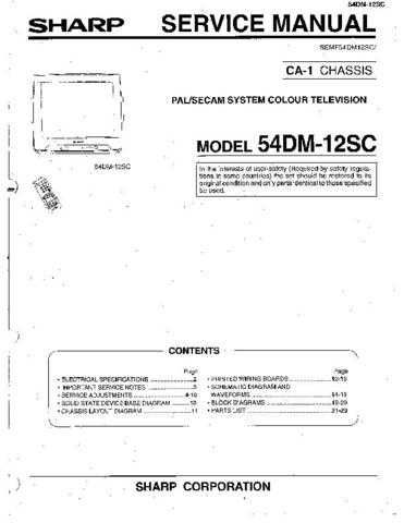 Sharp 54DM12SC (1) Service Manual by download Mauritron #207838