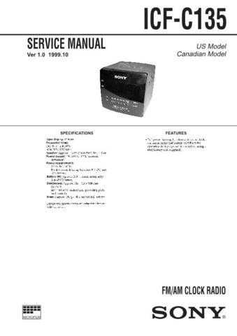 SONY ICF-CD873 Technical by download #104999