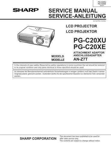 Sharp PGC20XU Service Manual by download Mauritron #209134