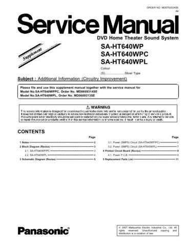 Panasonic MD0707060PE Service Manual by download Mauritron #267848