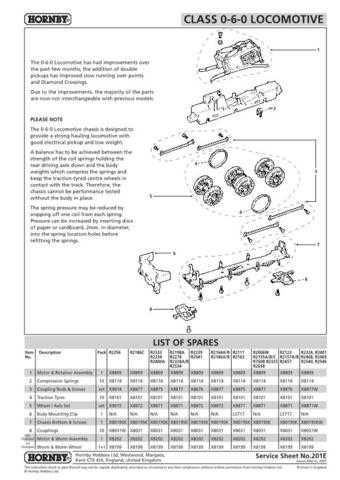 Hornby No.201E 0-6-0 Loco Service Sheets by download Mauritron #206887