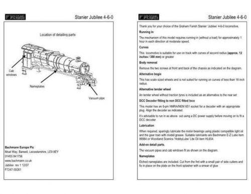 Graham Farish Stanier Jubilee 4-6-0 Information by download Mauritron #206148