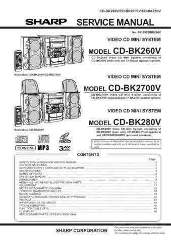 Sharp CDBP2000W Service Manual by download Mauritron #231106