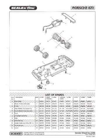 Scalextrix No.329B Porsche GTI Service Sheets by download Mauritron #206411