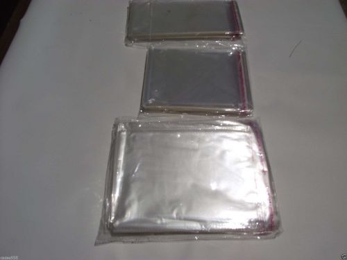 CLEAR Self Sealing CELLO Bags Envelopes Strong Clear cellophane bags in 3 size