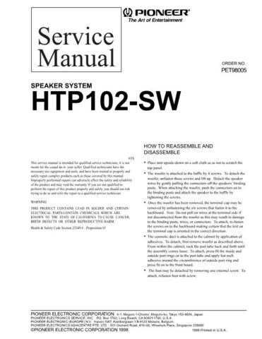 Pioneer PET98005 Manual by download Mauritron #227712