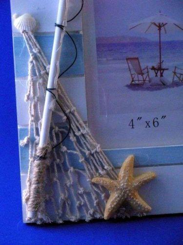 Picture frame 4 x 6 coastal / nautical themed
