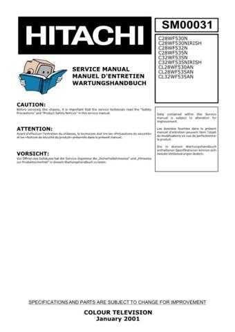 Hitachi C28WF535N Service Manual by download Mauritron #263431