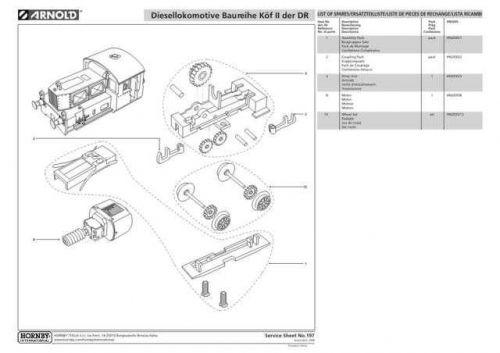 Arnold No.197 Baureihe Kof II der DR HN2035 Information by download Mauritron #