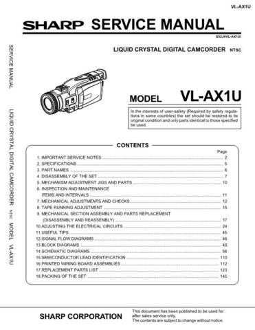 Sharp VLC790H-006 Service Manual by download Mauritron #210748