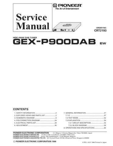 Pioneer C2193 Manual by download Mauritron #227153