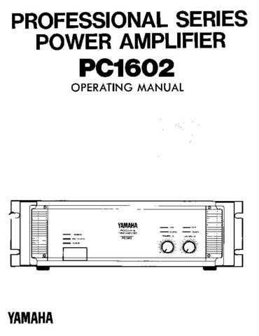 Yamaha PC2002E Operating Guide by download Mauritron #249113