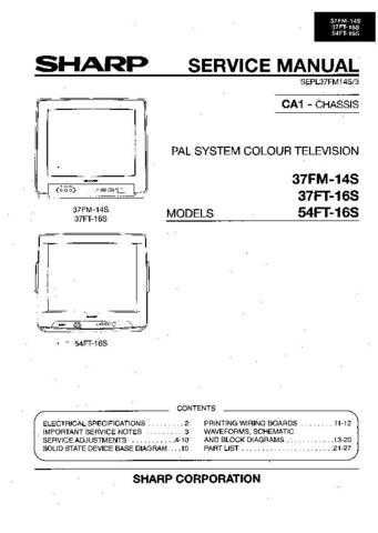 Sharp 37FM14S-37FT16S-54FT16S (1) Service Manual by download Mauritron #207795