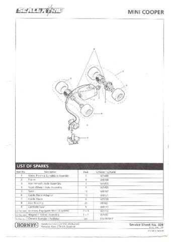 Scalextrix No.328 Mini Cooper Service Sheets by download Mauritron #206409