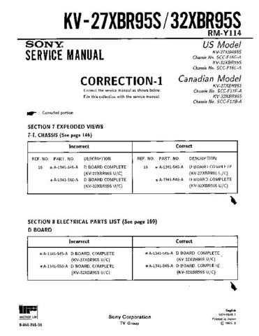 Sony KV-27XBR35-2 Service Manual. by download Mauritron #242269