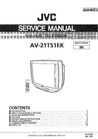 JVC jvc-av-21ts1ek- Service Manual by download Mauritron #273441