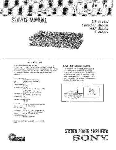 Sony XM-5520 Service Manual. by download Mauritron #246010