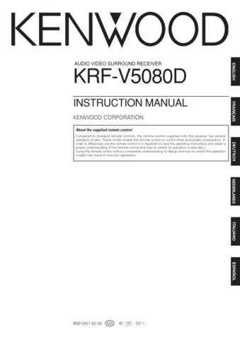 Kenwood KRF-V5090D Operating Guide by download Mauritron #219461