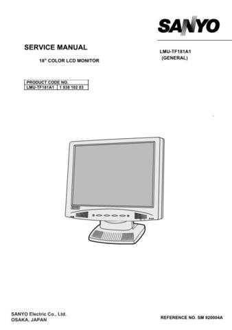 Fisher. Service Manual For LMU-TF181A1 by download Mauritron #217329