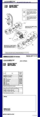 Scalextrix No.100A Escort Datsun and Mini Service Sheets by download Mauritron