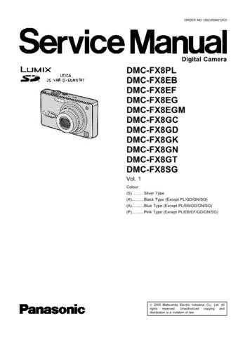 Panasonic DMC-FZ50SG Service Manual with Schematics by download Mauritron #266793