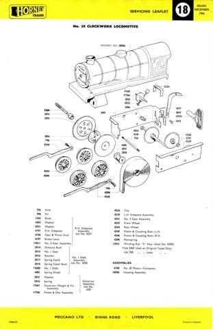 Hornby Dublo No.18 - No.20 Clockwork Loco Information by download Mauritron #20