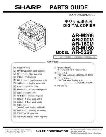 Sharp AR141S Parts Guide by download Mauritron #232631