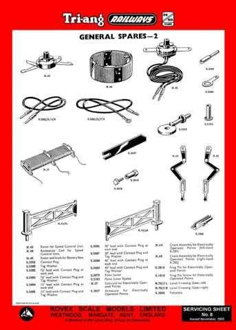 Triang Tri-ang No.008 General Spares 2 Service Sheets by download Mauritron #20