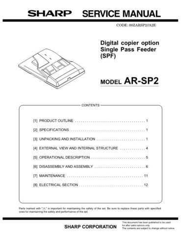 Sharp SHARP AR-SP2 SERVICE Service Manual by download Mauritron #210660