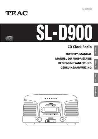 Teac SL-D900(EFGN) Service Manual by download Mauritron #223914