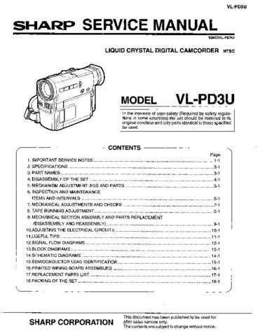 Sharp VLA110 H130 Service Manual by download Mauritron #210713