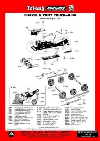 Triang Tri-ang No.036 Chassis and Pony Truck R358 Service Sheets by download Ma