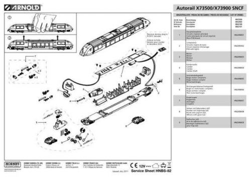 Arnold No.082 Autorail X73500 X73900 SNCF HN2101 Views etc by download Mauritro