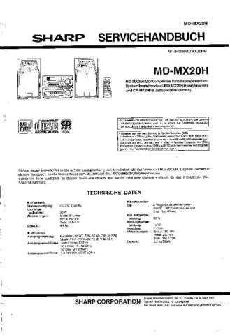 Sharp MDMX20H SM DE Service Manual by download Mauritron #209086