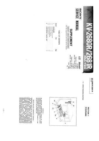 Sony KV29XTR10 Service Manual by download Mauritron #244278