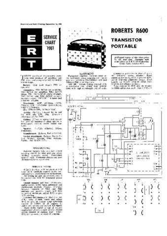 ROBERTS R600 SERVICE I by download #106590