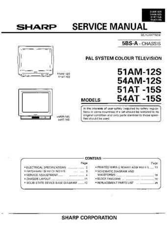 Sharp 51-54AM-AT12-15S Service Manual by download Mauritron #207823