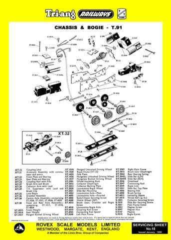 Triang Tri-ang No.015 Chassis and Bogie T91 Service Sheets by download Mauritro