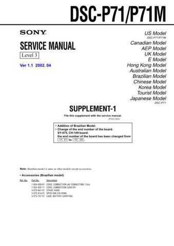 Sony DSC-P8-4 Service Manual by download Mauritron #240280