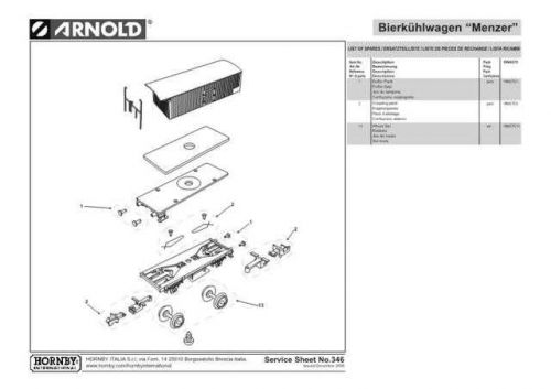 Arnold No.346 Bierkuhlwagen Menzer HN6075 Information by download Mauritron #20